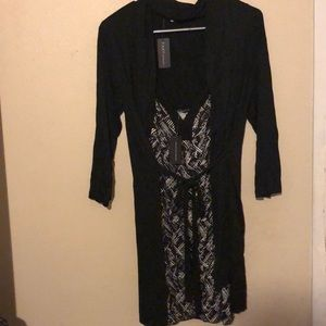 Other - Cute thin black robe with pj dress